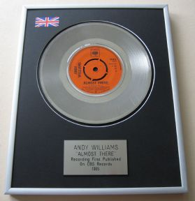ANDY WILLIAMS - ALMOST THERE Platinum Single Presentation DISC